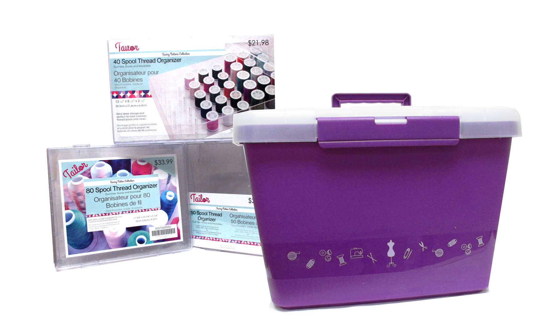 Large selection of various sizes of thread spool organizers bobbin boxes and sewing storage boxes. Great for keeping your supplies dust-free and tidy.  sc 1 st  Fabricland & Sewing Boxes and Storage